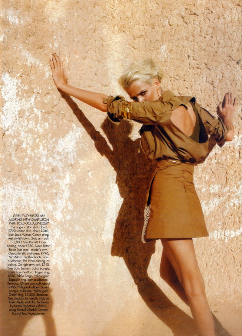 Carmen Kass by Mark Pillai in Heat Seeker | Harper's Bazaar UK June 2010