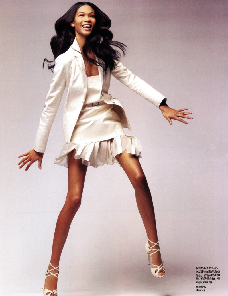 Chanel Iman by Thomas Schenk for Vogue China June 2010
