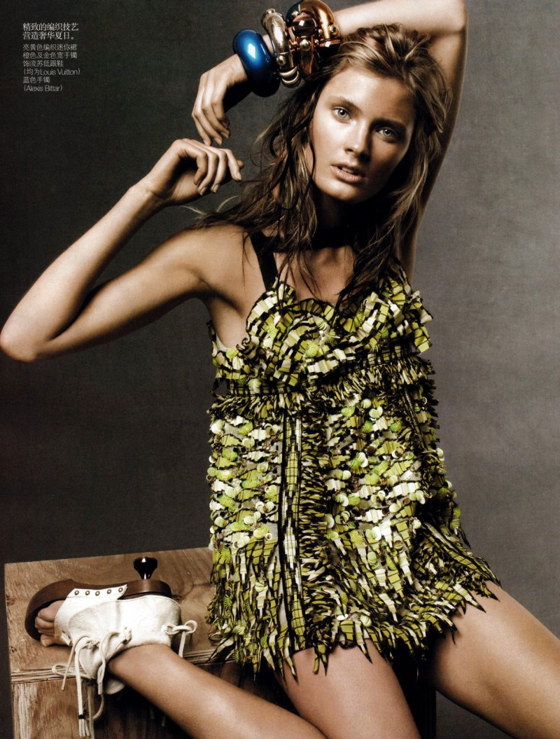 Constance Jablonski by Daniel Jackson in Wild Child | Vogue China June 2010