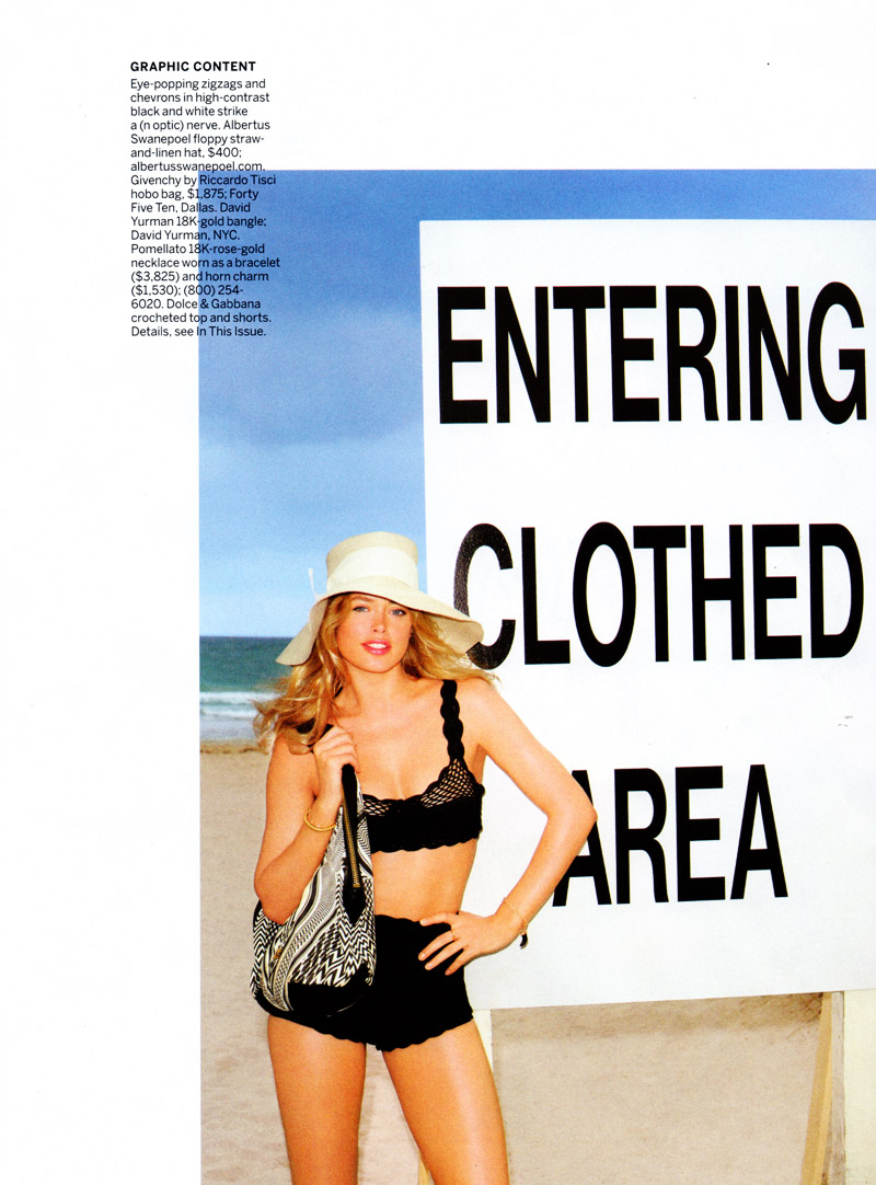 Doutzen Kroes by Terry Richardson for Vogue US June 2010