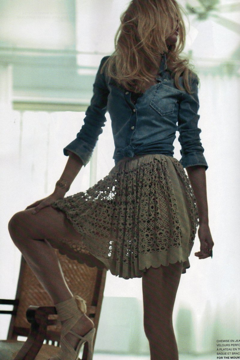 Erin Heatherton by Patric Shaw in Macadam Cowboy | L'Officiel Paris May 2010