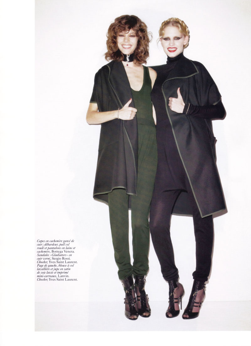 Freja Beha Erichsen & Lara Stone by Terry Richardson for Vogue Paris June/July 2010