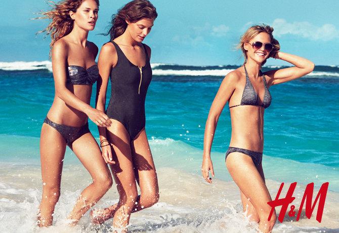 H&M Swimwear 2010 Campaign | Daria, Erin, Sasha, Lara & Julia by Patrick Demarchelier