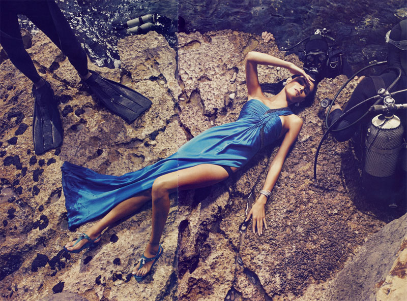 Isabeli Fontana for Vogue Paris June/July 2010 by Mikael Jansson