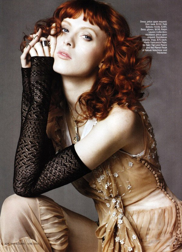 Karen Elson by Simon Burstall for Marie Claire US June 2010