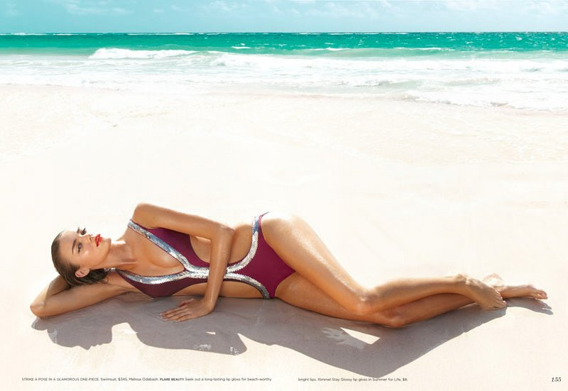 Nika Lauraitis by Max Abadian in Endless Summer | Flare June 2010
