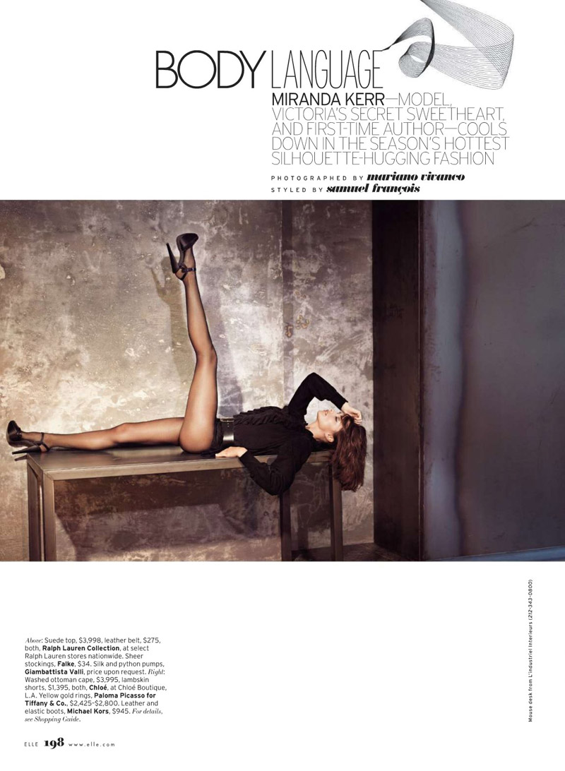 Miranda Kerr for Elle US June 2010 by Mariano Vivanco