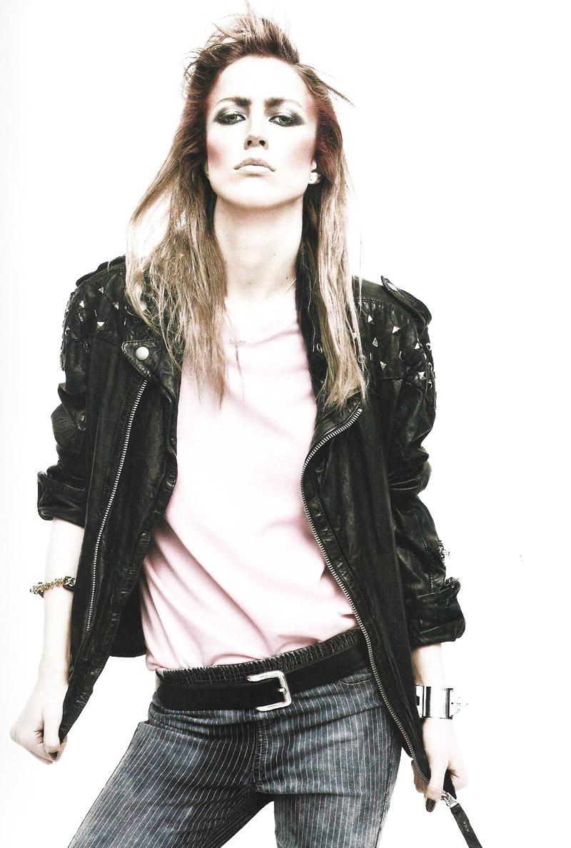 Raquel Zimmermann by David Sims in Girl Meets Boy | Vogue Paris June/July 2010