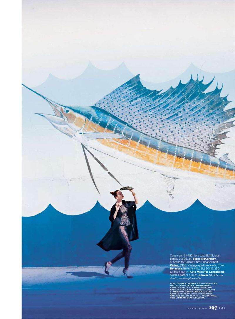 Yulia Kharlapanova by Serge Leblon for Elle US June 2010