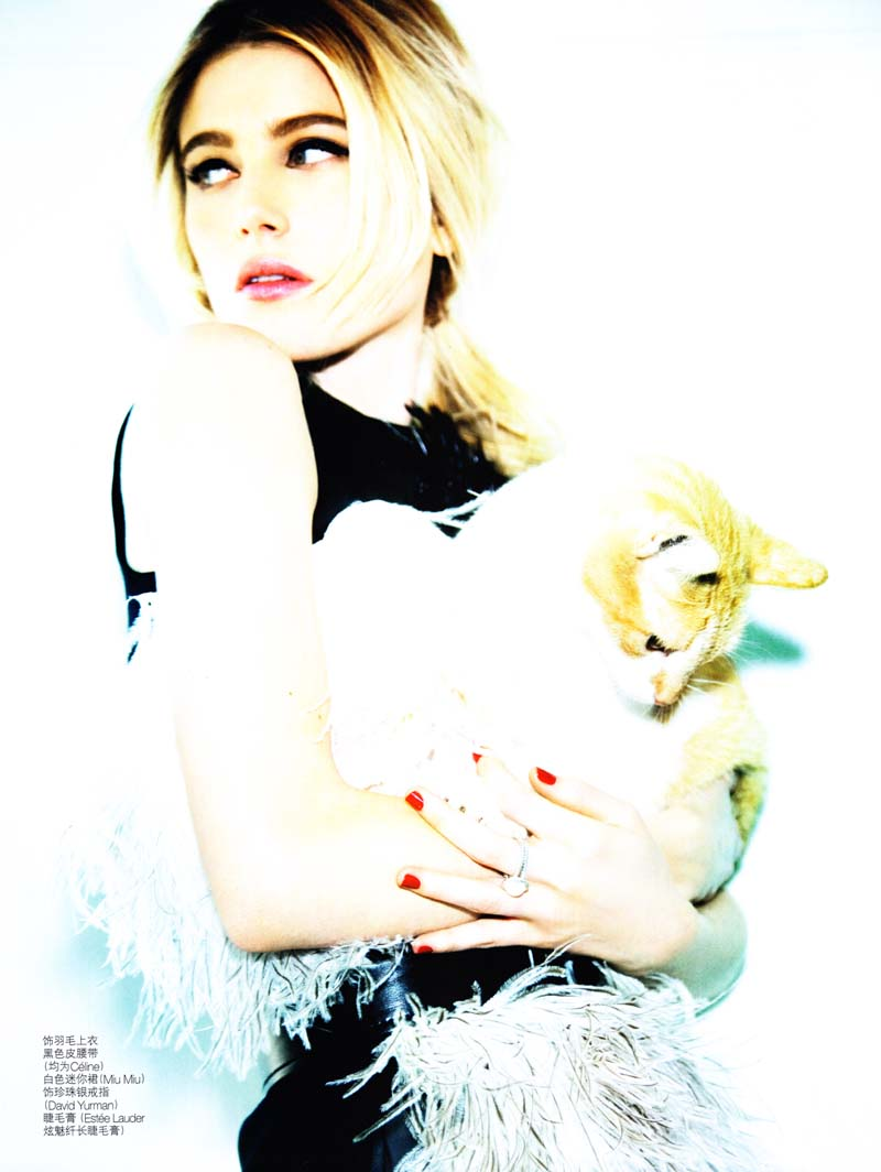 Dree Hemingway by Ellen von Unwerth for Vogue China July 2010