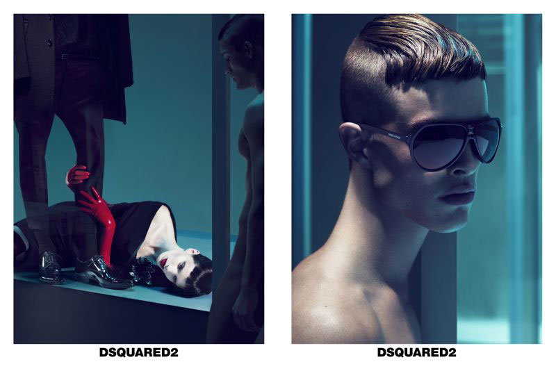 DSquared2 Fall 2010 Campaign | Iris, Chanel & Alla by Mert & Marcus