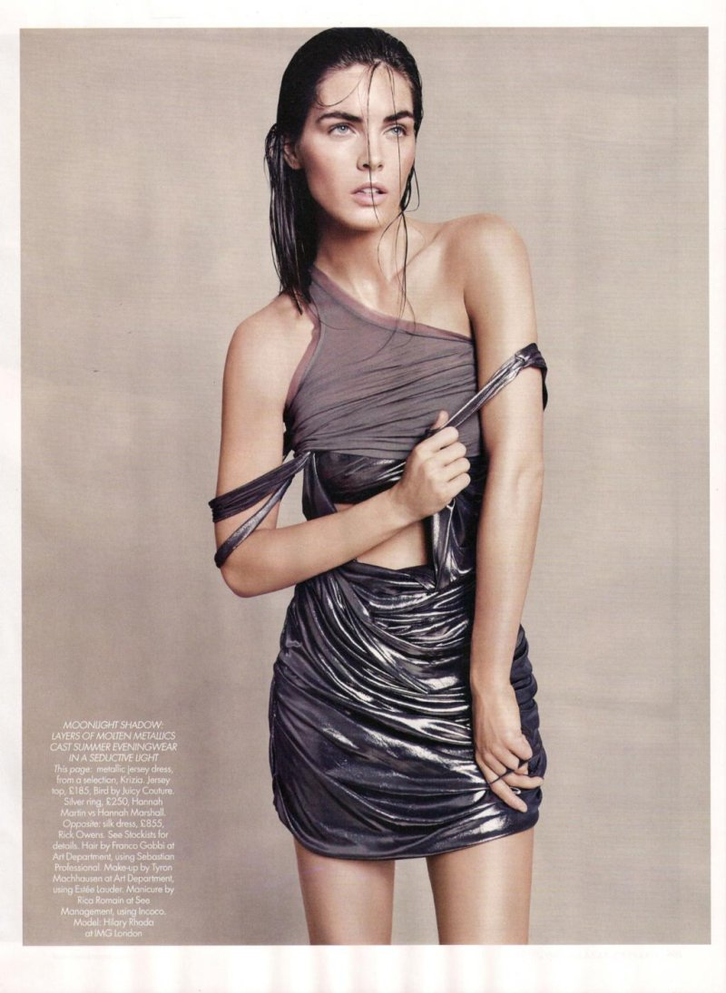 Hilary Rhoda by Paola Kudacki in Goddess Complex | Harper's Bazaar UK July 2010