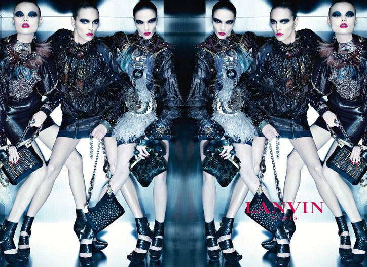 Lanvin Fall 2010 Campaign Preview | Mariacarla, Anja & Magdalena by Steven Meisel