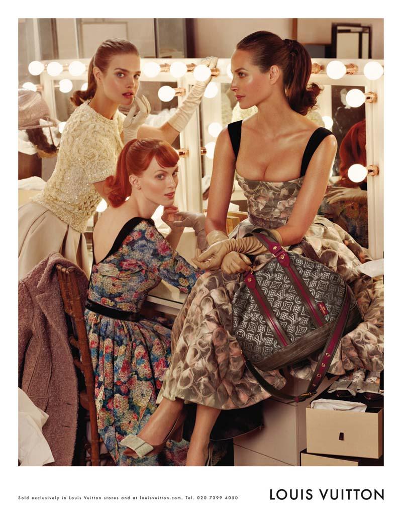 Louis Vuitton Fall 2010 Campaign | Christy Turlington, Natalia Vodianova & Karen Elson by Steven Meisel