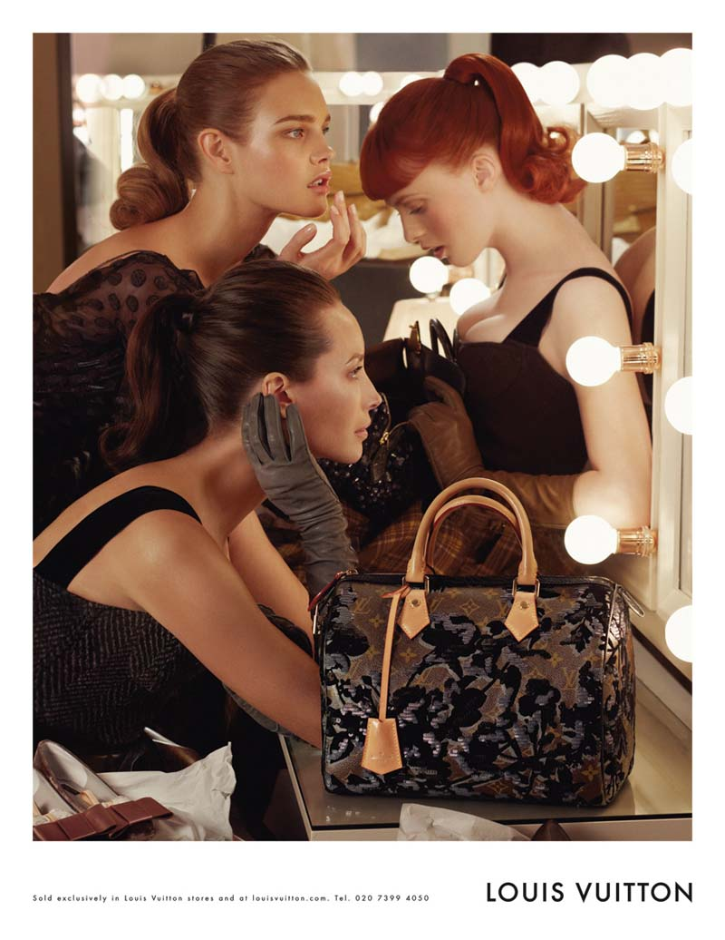 Louis Vuitton Fall 2010 Campaign | Christy Turlington, Natalia Vodianova & Karen Elson by Steven Meisel