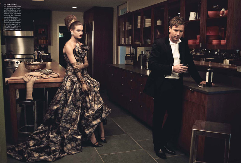 Natalia Vodianova & Ewan McGregor by Peter Lindbergh for Vogue US July 2010