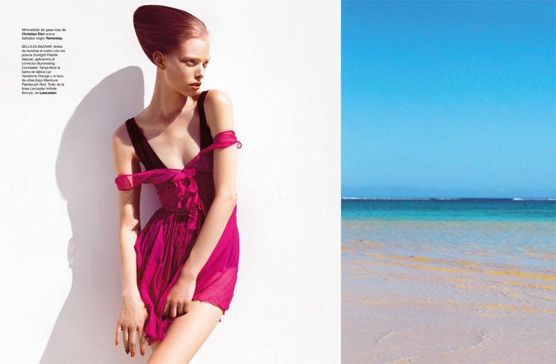 Tanya Dziahileva for Harper's Bazaar Spain July/August 2010 by Nico
