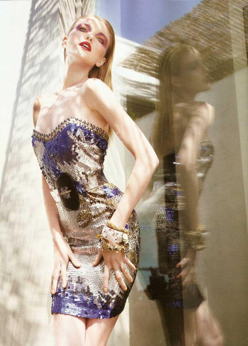 Vlada Roslyakova by Marcin Tyszka for Vogue Portugal July 2010