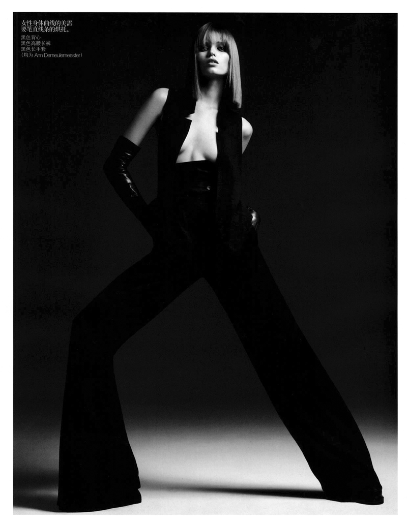 Abbey Lee Kershaw by Hedi Slimane in Skin Deep | Vogue China August 2010