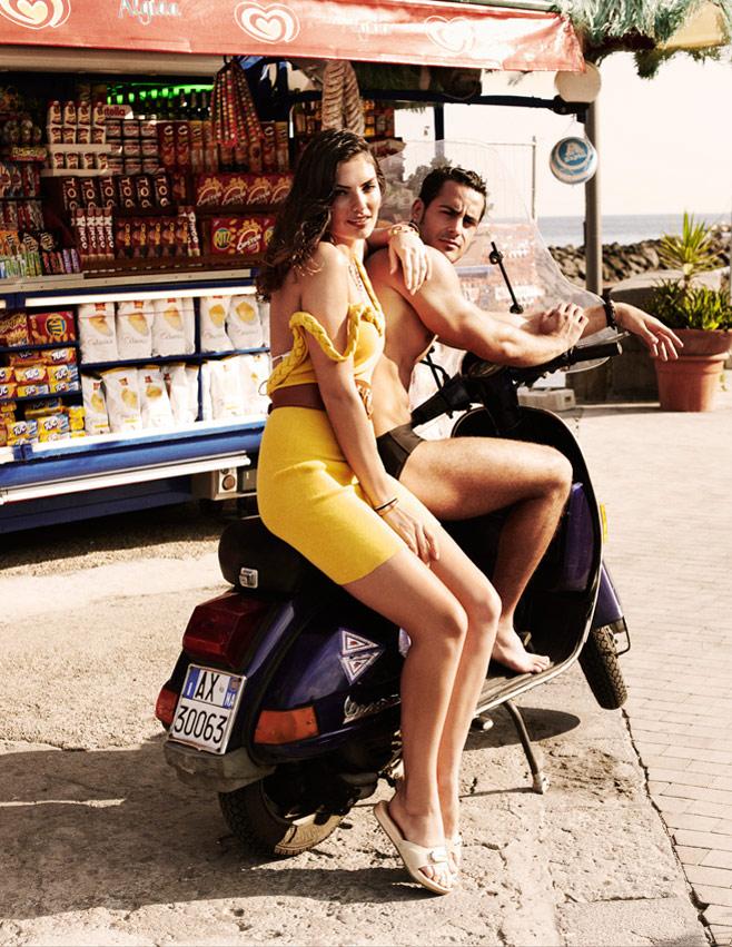 Alyssa Miller by David Burton for Elle Italia July 2010