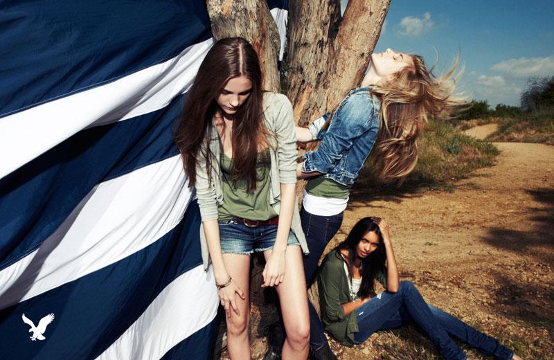 American Eagle Outfitters Fall 2010 Campaign   Regina Feoktistova, Kori Richardson & Lais Ribeiro by Nagi Sakai