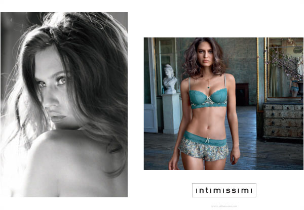 Bianca Balti for Intimissimi's Fall 2010 Campaign