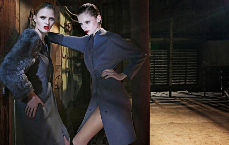 ck Calvin Klein Fall 2010 Campaign | Lara Stone & Abbey Lee Kershaw by Fabien Baron