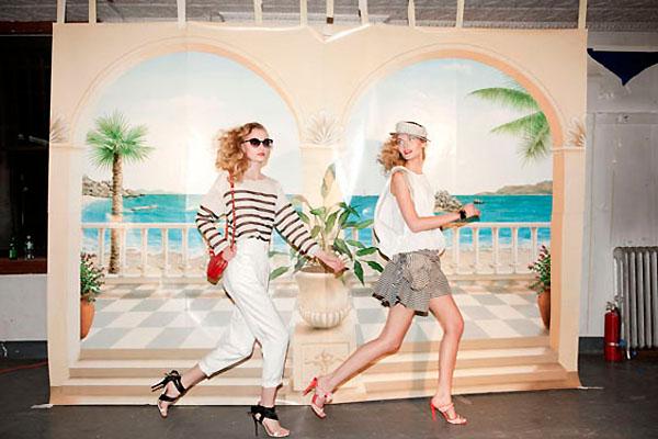 Tatyana Usova & Tatiana Lyadochkina by Marcelo Krasilcic for Elle Italia July 2010