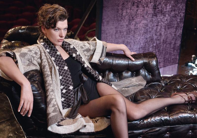 Escada Fall 2010 Campaign | Milla Jovovich by Peter Lindbergh
