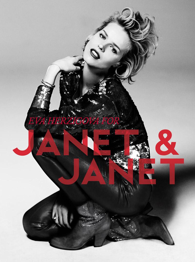 Eva Herzigova for Janet & Janet's Fall 2010 Campaign