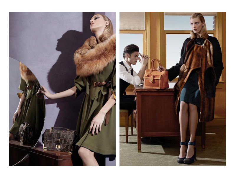 Fendi Fall 2010 Campaign Preview | Anja Rubik by Karl Lagerfeld
