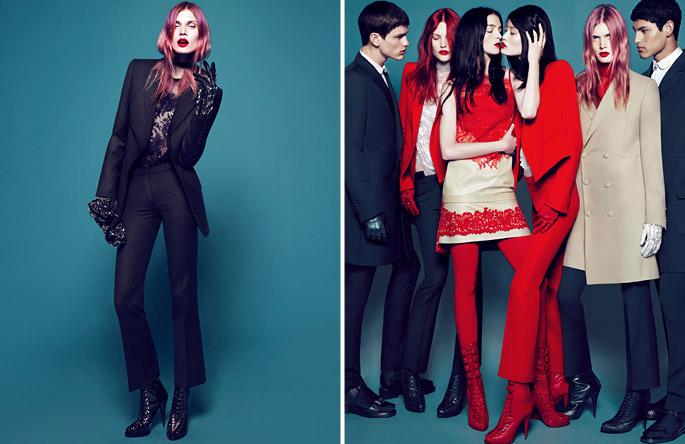 Givenchy Fall 2010 Campaign   Mariacarla Boscono, Catherine McNeil, Malgosia Bela & Joan Smalls by Mert & Marcus