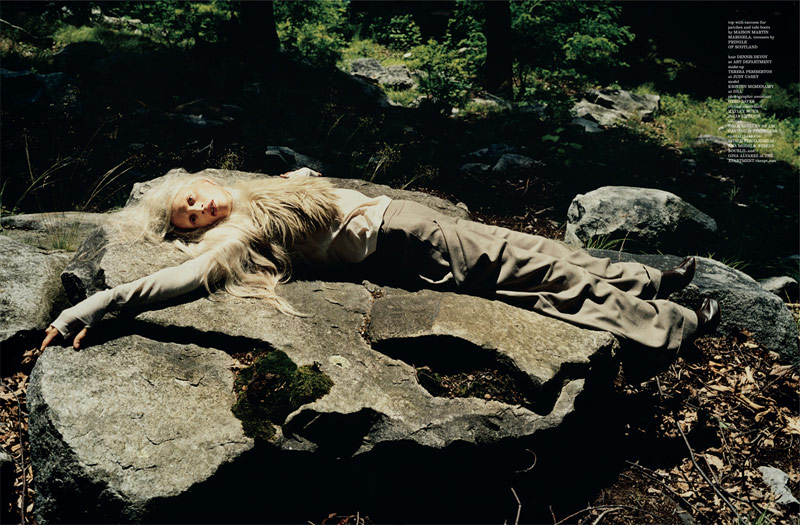 Kristen McMenamy for Dazed & Confused August 2010 by Tierney Gearon