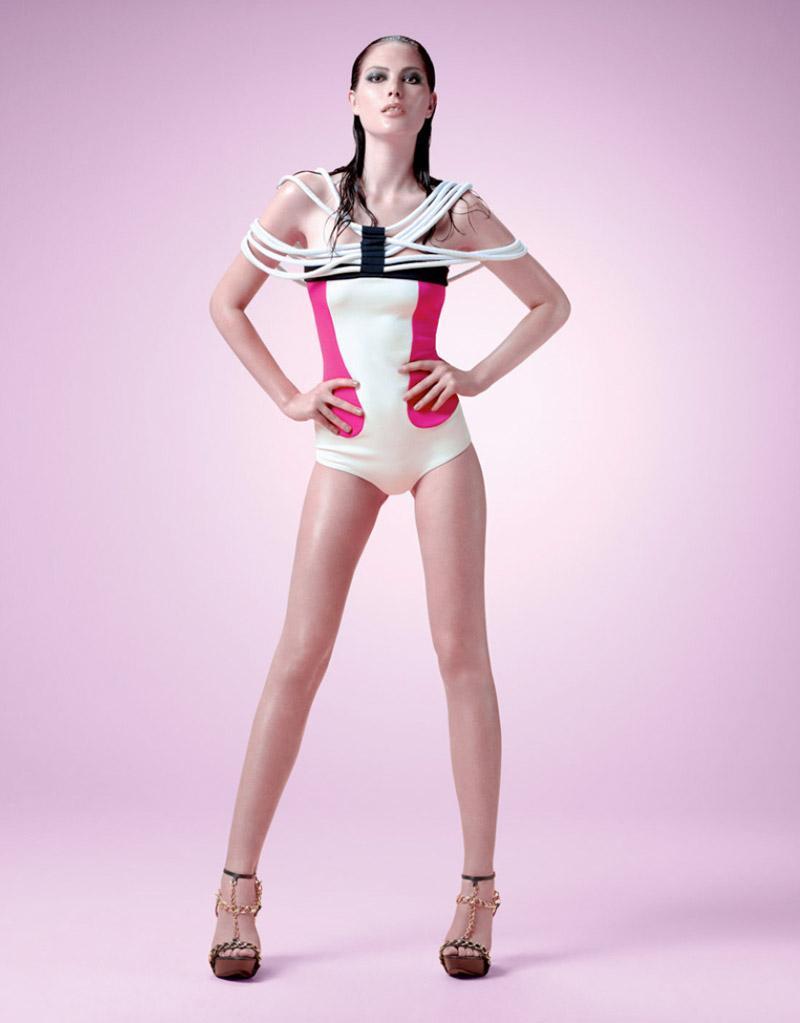 Catherine McNeil, Karmen Pedaru & Marloes Horst for Lanca Perfume Spring 2011 Campaign