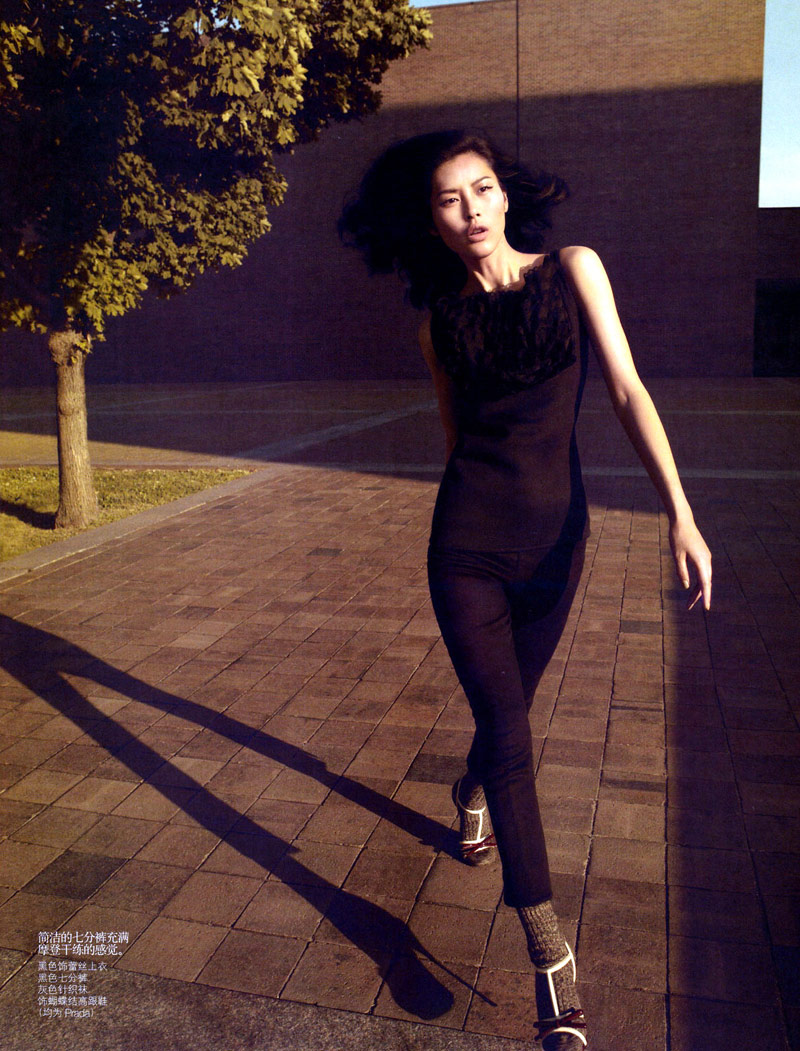 Liu Wen by Camilla Akrans for Vogue China August 2010