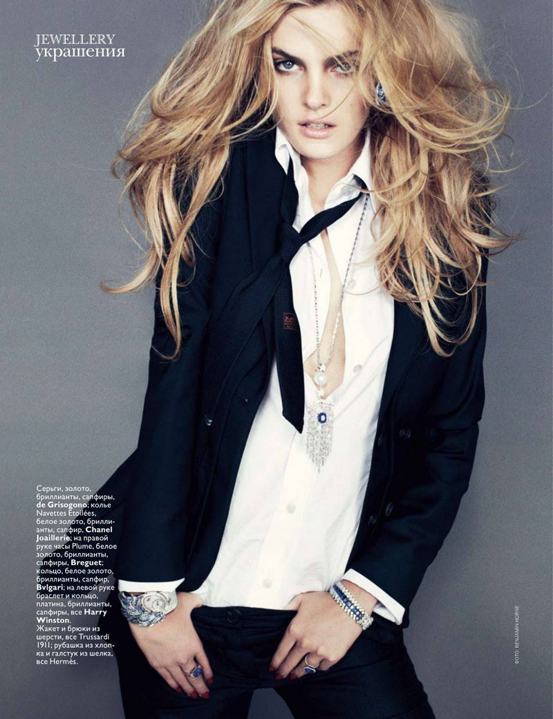Malene Knudsen for Vogue Russia August 2010 by Benny Horne