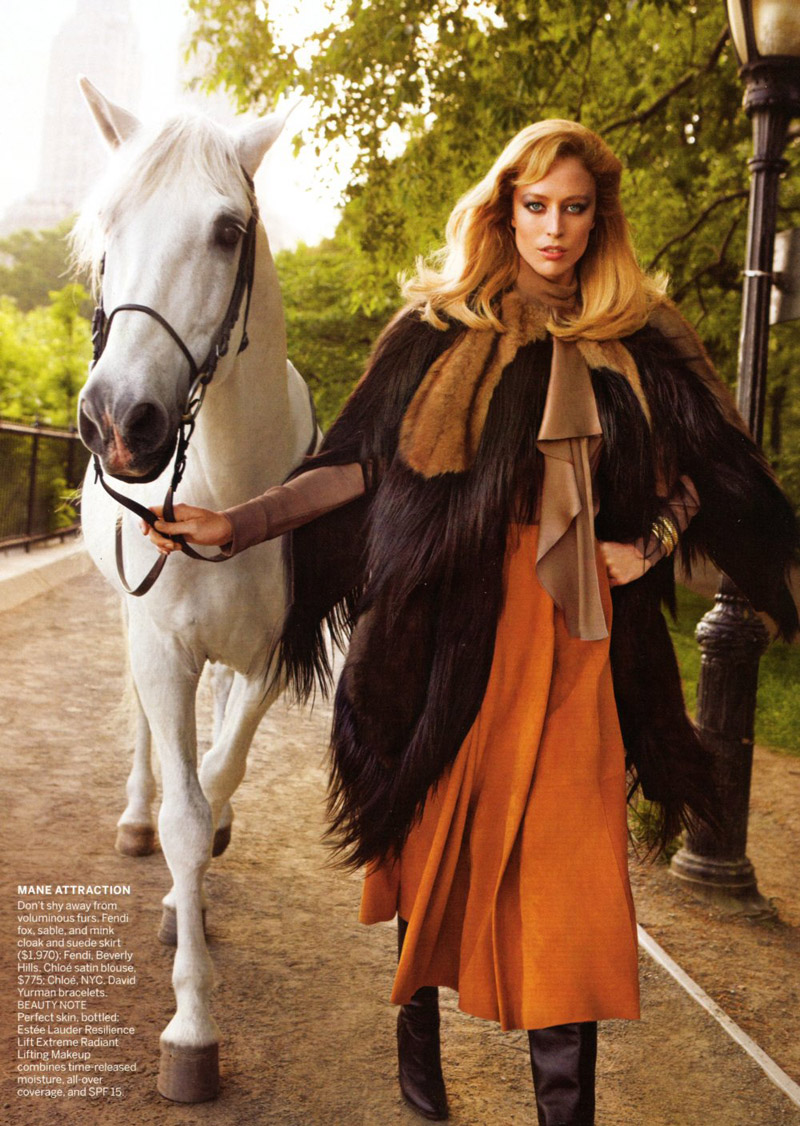 Raquel Zimmermann for Vogue US August 2010 by Inez & Vinoodh
