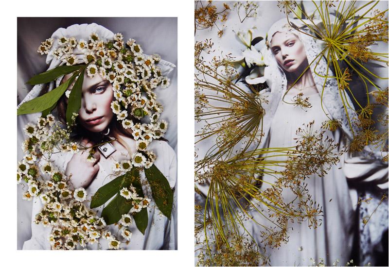 Tanya Dziahileva by Danil Golovkin in Ave Maria | Harper's Bazaar Russia July 2010