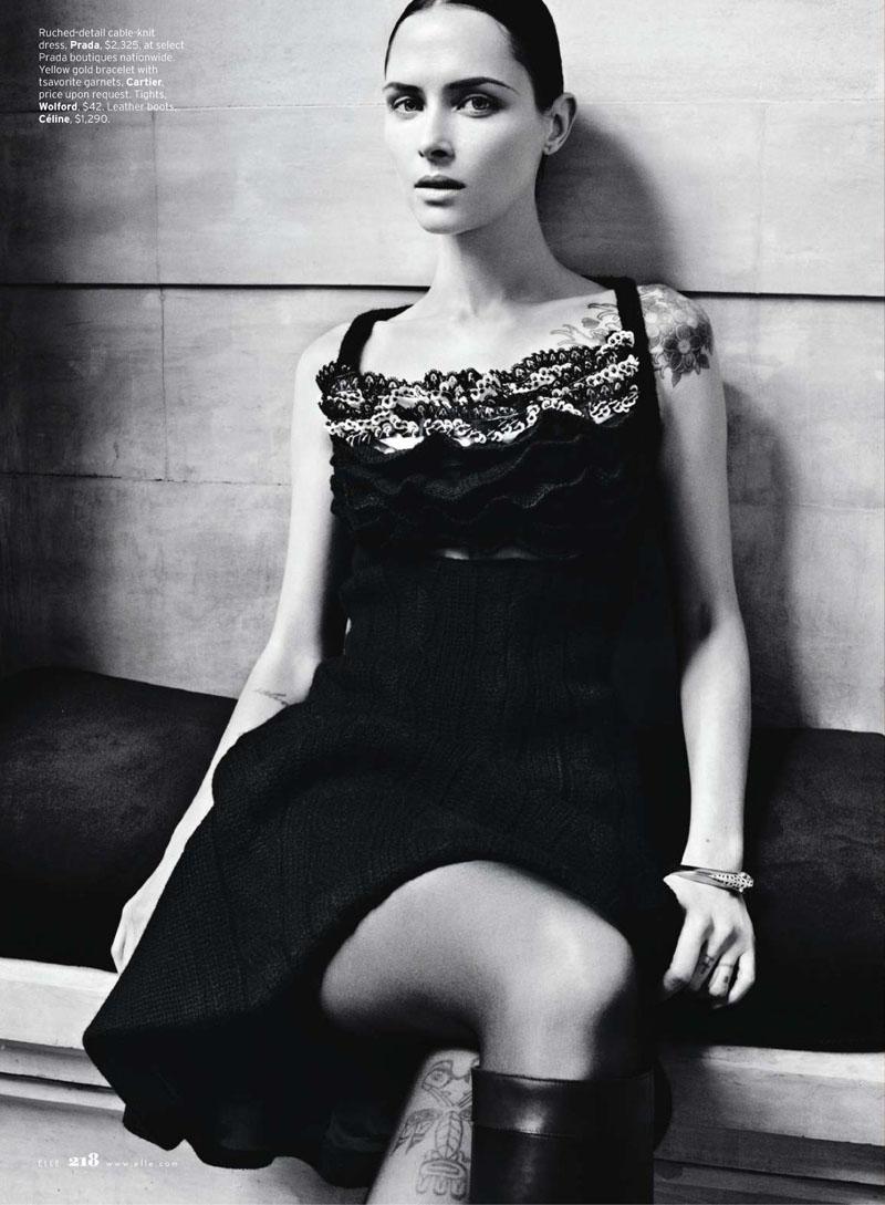 Tasha Tilberg by Kacper Kasprzyk for Elle US August 2010