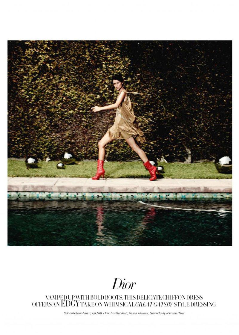 Tasha Tilberg by Michel Comte for Harper's Bazaar UK August 2010