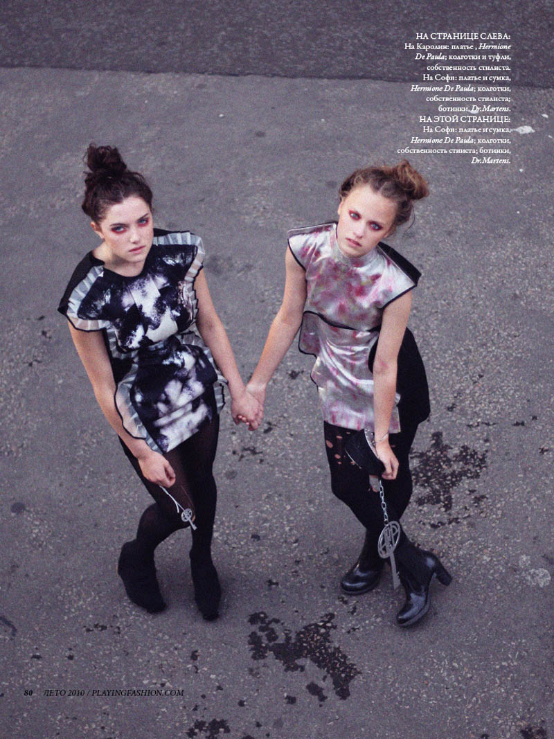 Caroline Buist & Sophie Dillon by Nicole Maria Winkler for Playing Fashion Summer 2010