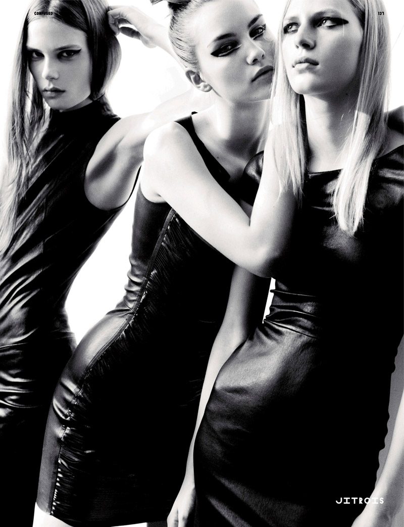 Caroline, Julia N. & Julia S. by Kacper Kasprzyk in World Clique | Dazed & Confused September 2010