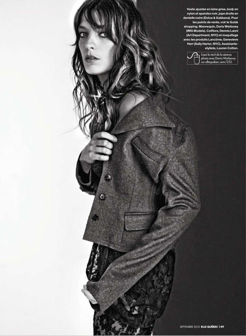 Daria Werbowy for Elle Quebec September 2010 by Raphael Mazzucco