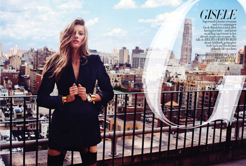 Gisele Bundchen for Harper's Bazaar UK September 2010 by Cédric Buchet