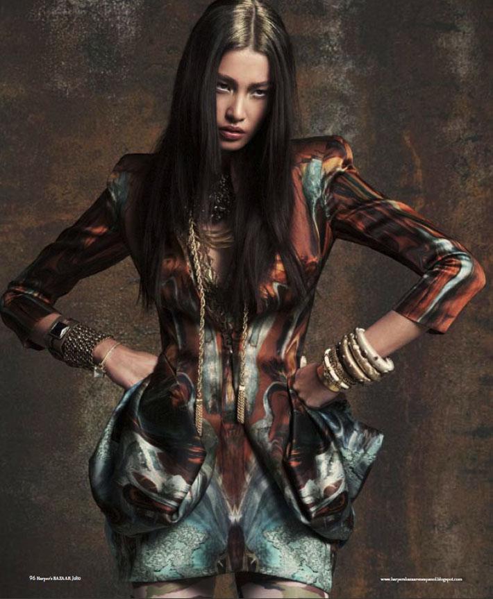 Juliana Imai by Yurenev & McNiel for Harper's Bazaar en Español