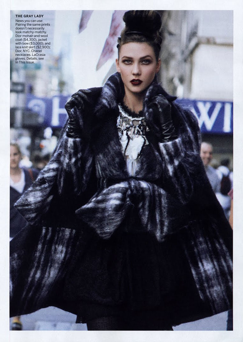 Karlie Kloss by Peter Lindbergh for Vogue US September 2010