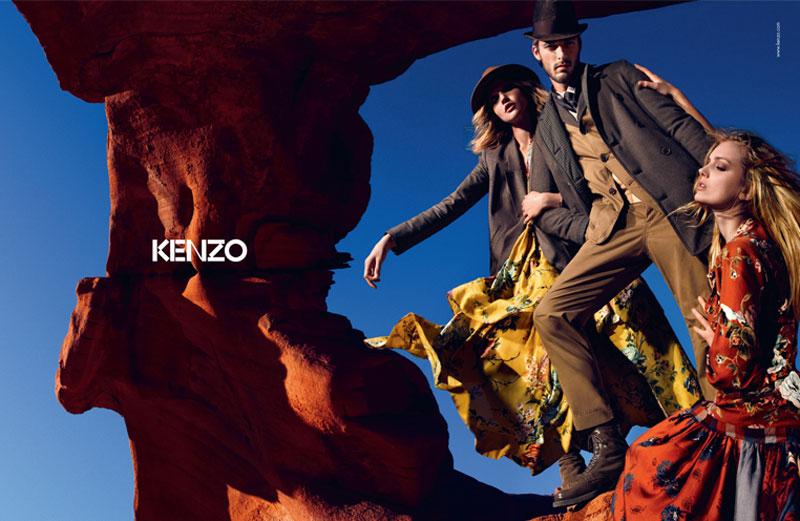 Kenzo Fall 2010 Campaign   Lily Donaldson & Sasha Pivovarova by Mario Sorrenti
