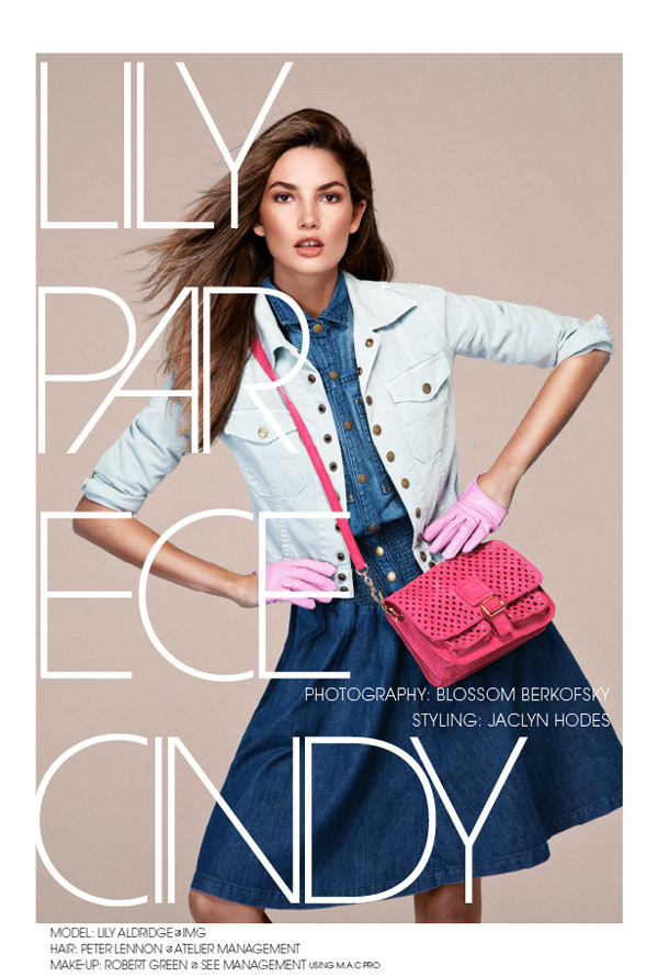 Lily Aldridge by Blossom Berkofsky for Vanidad