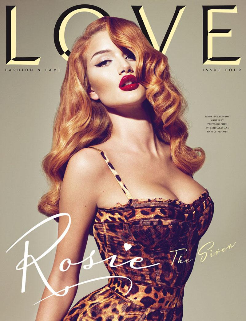 LOVE Magazine #4 Covers | Gisele, Alessandra, Agyness, Rosie, Lauren, Sienna & Kelly by Mert & Marcus