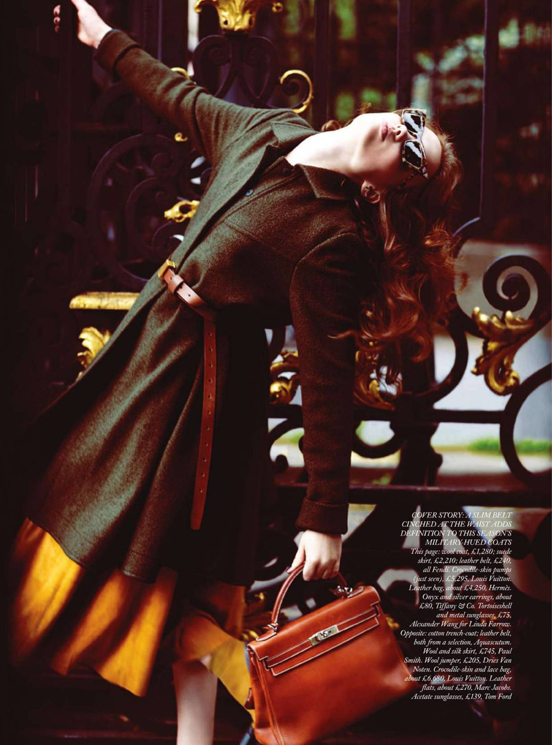 Naty Chabanenko by Serge Leblon for Harper's Bazaar UK September 2010